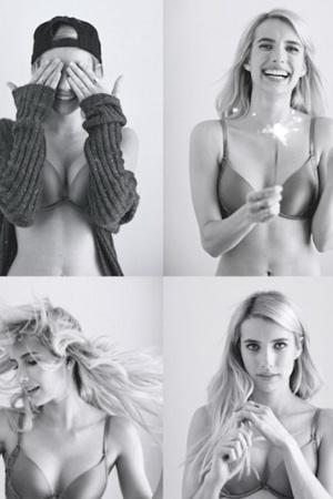 Эмма Робертс стала лицом молодого бренда нижнего белья Aerie