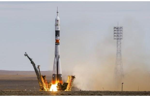 Фото: «Союз» с астронавтами успешно стартовал к МКС