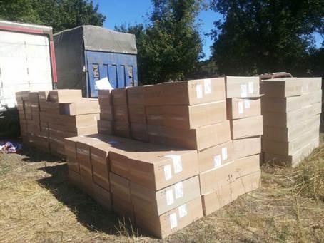 На Донетчине присечена контрабанда 300 ящиков сигарет