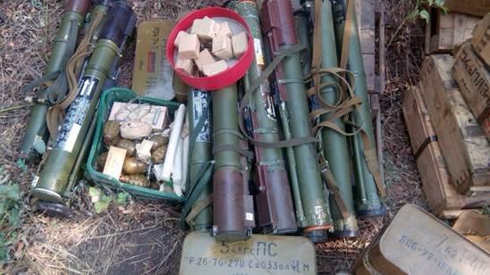 В зоне АТО обнаружили крупную партию оружия (ФОТО)