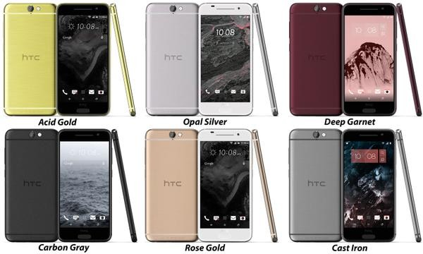 Фото: HTC One A9 в 6 расцветках рассекречен