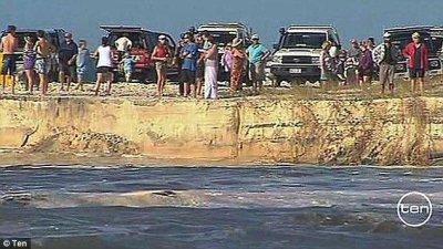 В Австралии провалился пляж с кемпингом (ФОТО+ВИДЕО)