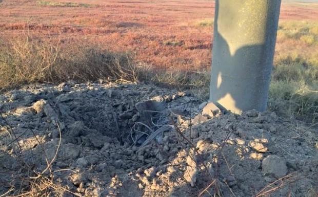 На Херсонщине повредили опору, подающую электричество в Крым
