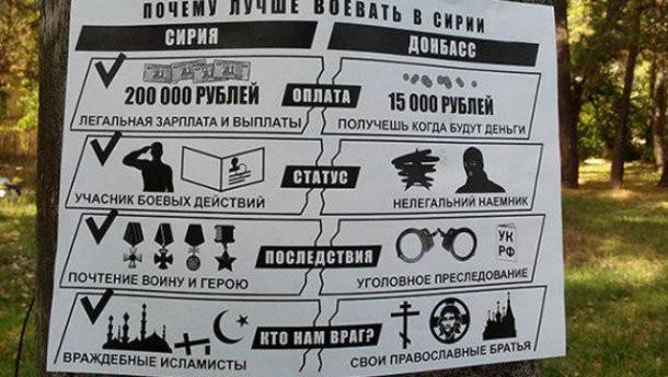 В Донецке призывают добровольцев на войну в Сирию