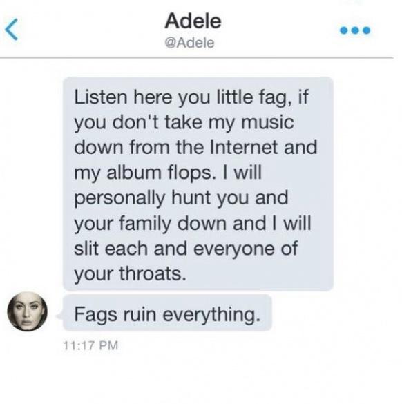 Исполнительница Адель грозила собственной поклоннице