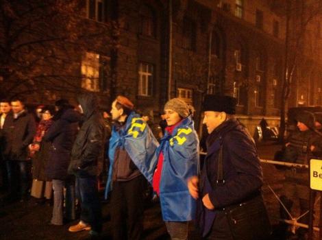 Функционеры на Банковской требуют встречи с Порошенко (ВИДЕО)