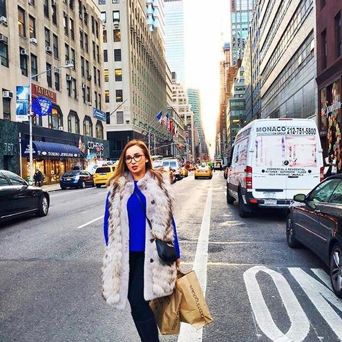Анфиса Чехова отдыхает с супругом в Нью-Йорке (ФОТО)