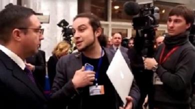 """""""Тявкающего"""" корреспондента LifeNews вытолкала защита Эрдогана"""