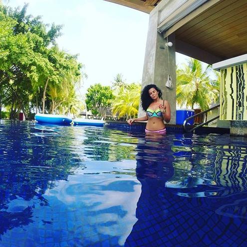 Настя Днепродзержиных отдыхает на Мальдивах (ФОТО)