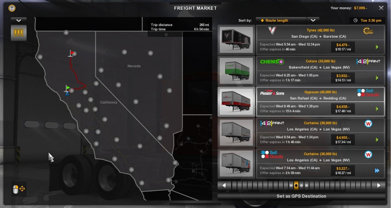 American Truck Simulator: Калифорния и Невада со старта