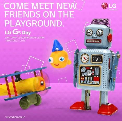 LG G5 представят на MWC 2016 21 февраля