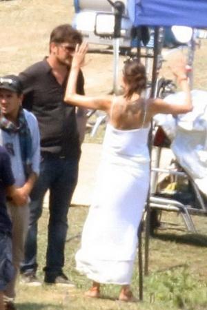 Джоли проведала Питта после съемок нового кинофильма (ФОТО)