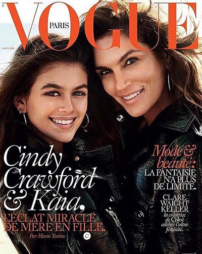 Синди Кроуфорд с дочерью снялись для обложки Vogue (ФОТО)