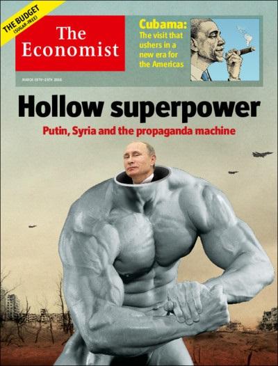 Фото: Обложку The Economist украсила насмешка Путина