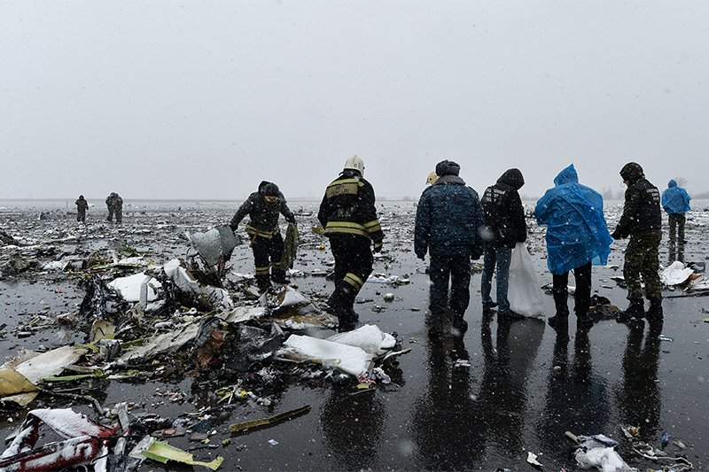 Воссоздали картину крушения Boeing 737 в Ростове-на-Дону
