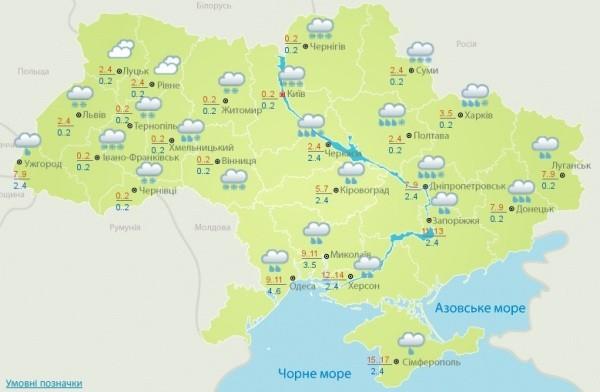 Завтра в Украине выпадет 15 см снега