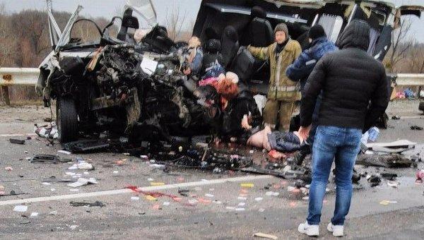 Фото: Смертельное ДТП под Полтавой: 8 погибших