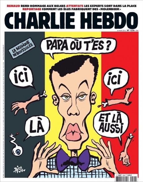 Фото: Новый выпуск Charlie Hebdo на тему терактов в Брюсселе