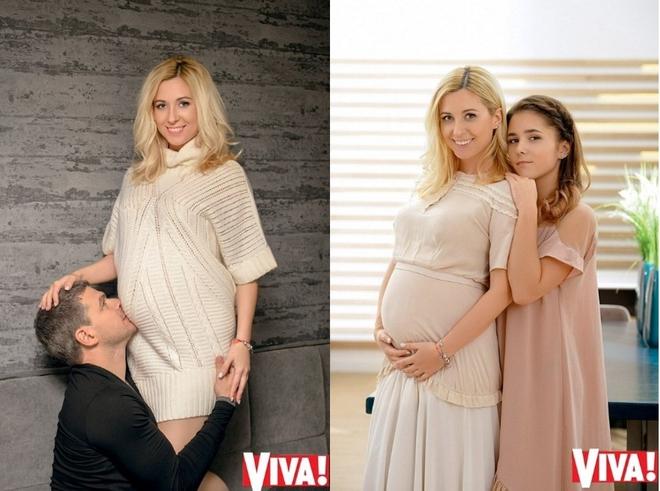 Антонина Матвиенко позировала для глянца с новорожденной дочкой