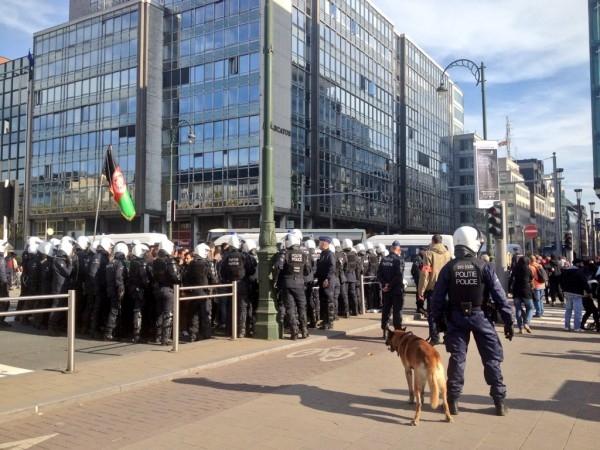 Беспорядки в Брюсселе: Сотня задержанных