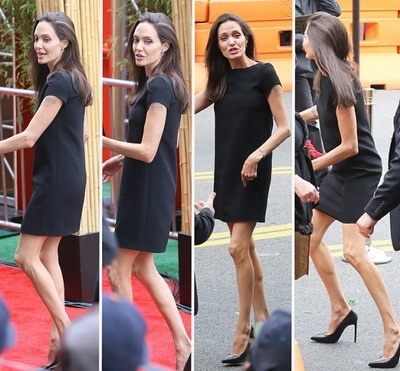 Анджелина Джоли худеет из-за измен Брэда Питта (ФОТО)