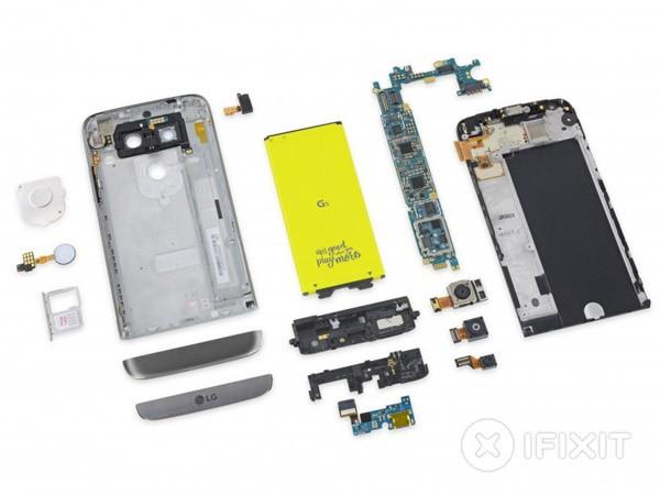 Спецы iFixit оценили ремонтопригодность LG G5