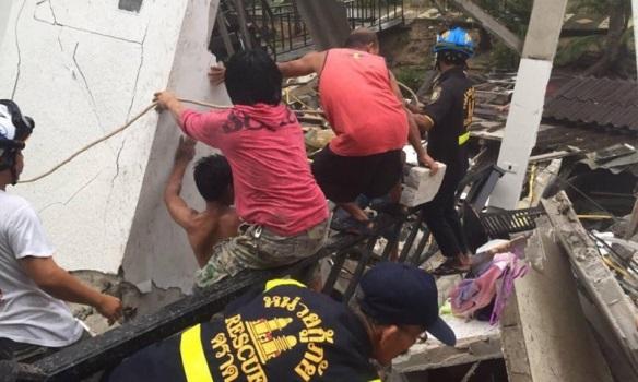 В Таиланде обвалился отель: пострадали путешественники (ФОТО)