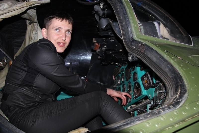 Савченко села за руль вертолета в области Иначе (12 фото)