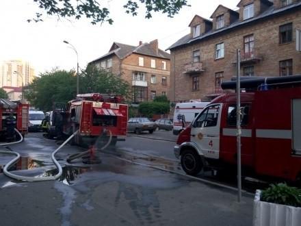 Фото: Пожар в Соломенском райсуде Киева