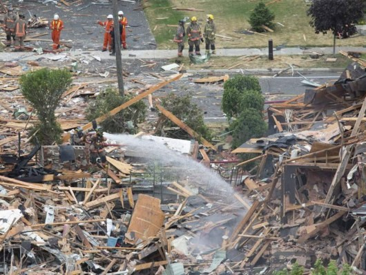Взрыв в Канаде: уничтожения, жертвы и поврежденные (Фото, Видео)