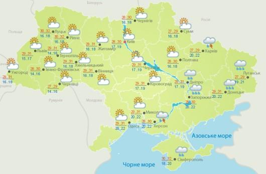 Вчера в Украине будет черство и тепло