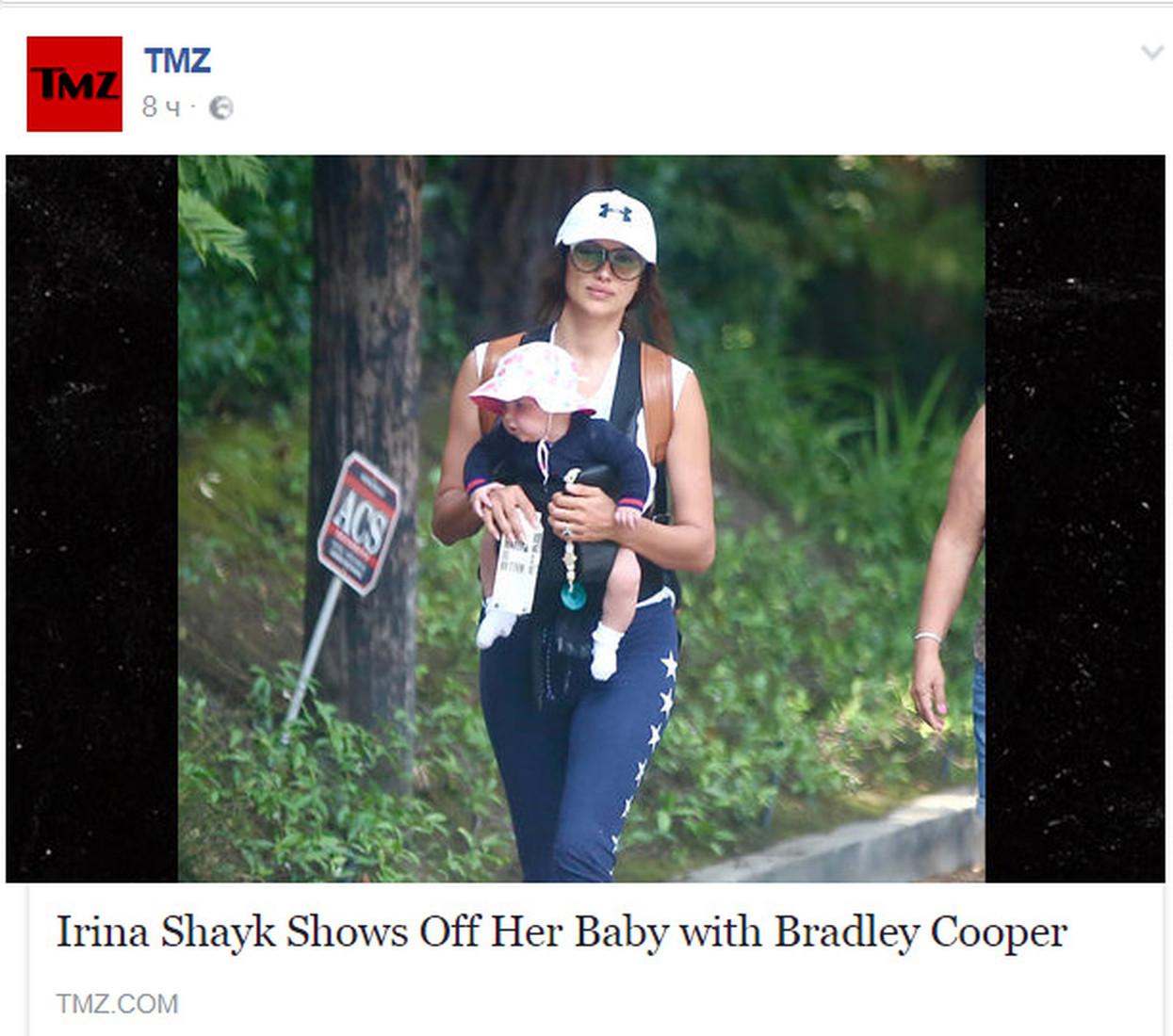 Появилось первое фото дочери Ирины Шейк и Брэдли Купера