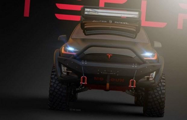 Tesla Model X превратили в экстремальный внедорожник