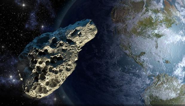 NASA показало видео сближения астероида с Землей